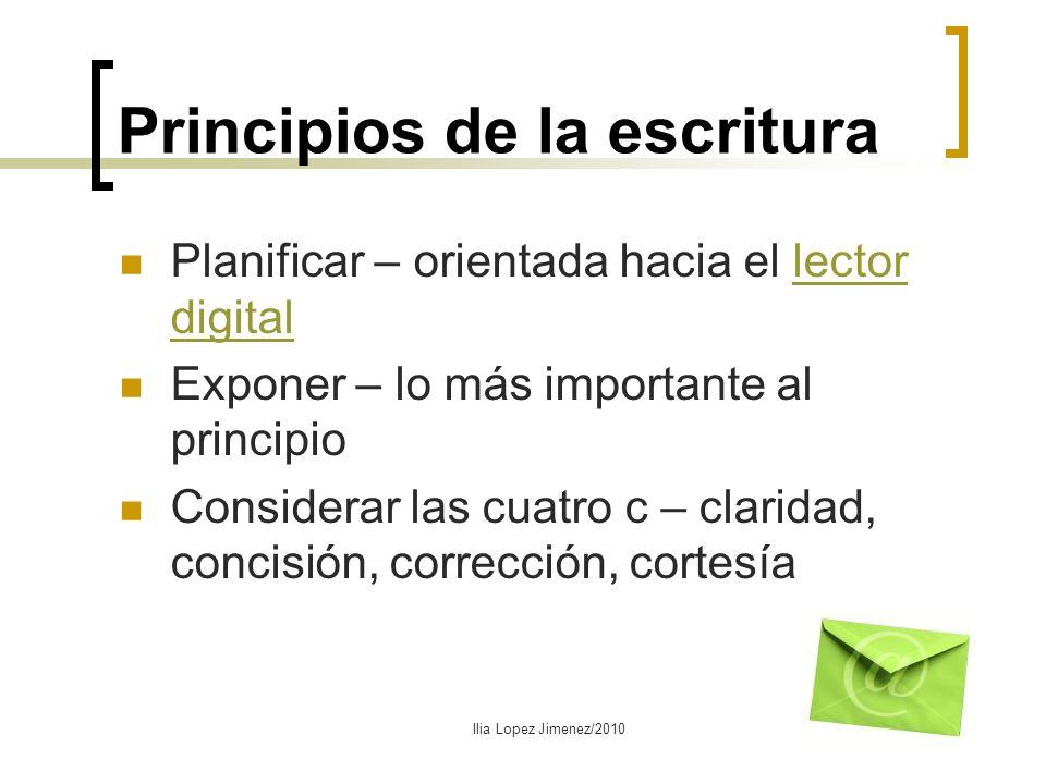 Principios de la escritura