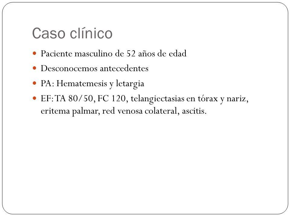 Caso clínico Paciente masculino de 52 años de edad