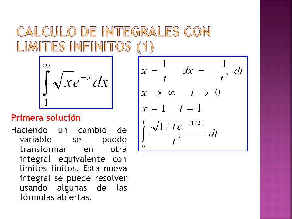 Calculo de integrales con limites infinitos (1)