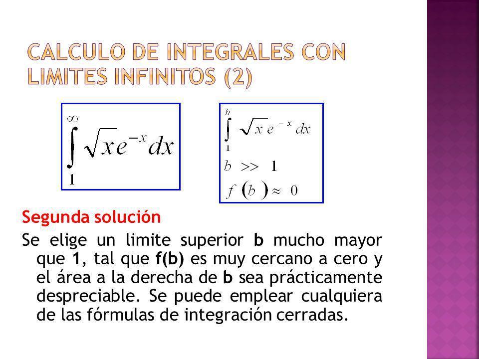Calculo de integrales con limites infinitos (2)