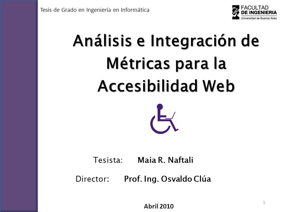 Análisis e Integración de Métricas para la Accesibilidad Web