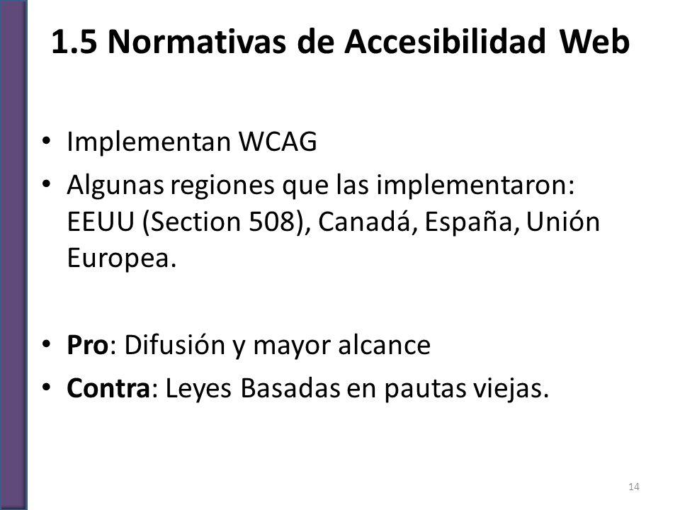 1.5 Normativas de Accesibilidad Web