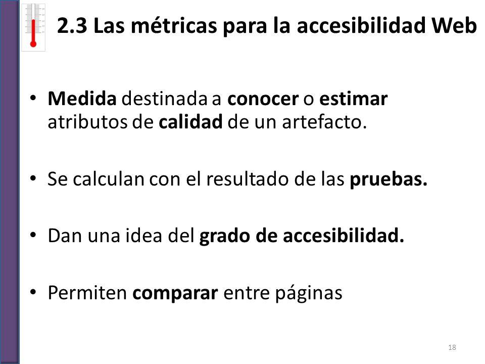 2.3 Las métricas para la accesibilidad Web
