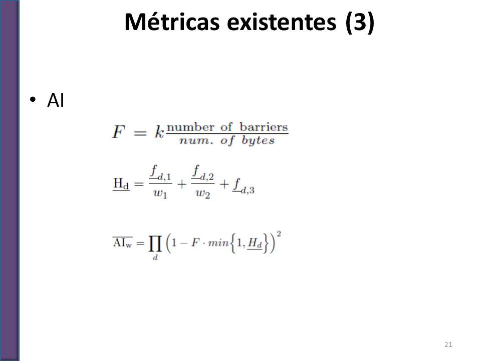 Métricas existentes (3)