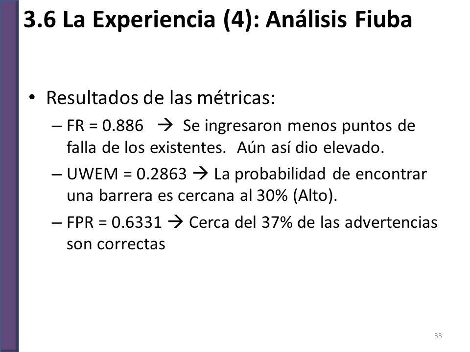 3.6 La Experiencia (4): Análisis Fiuba