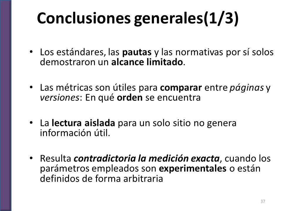 Conclusiones generales(1/3)