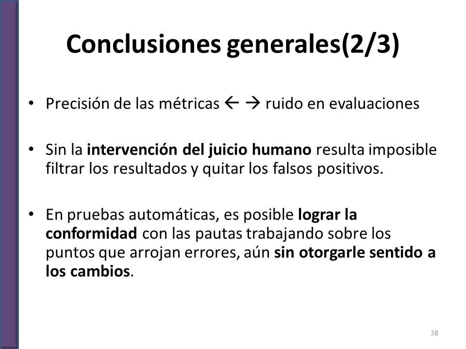 Conclusiones generales(2/3)