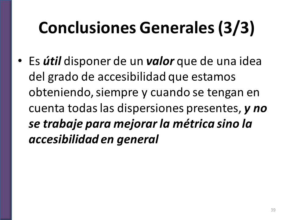 Conclusiones Generales (3/3)