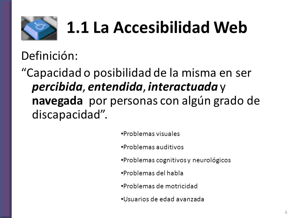 1.1 La Accesibilidad Web