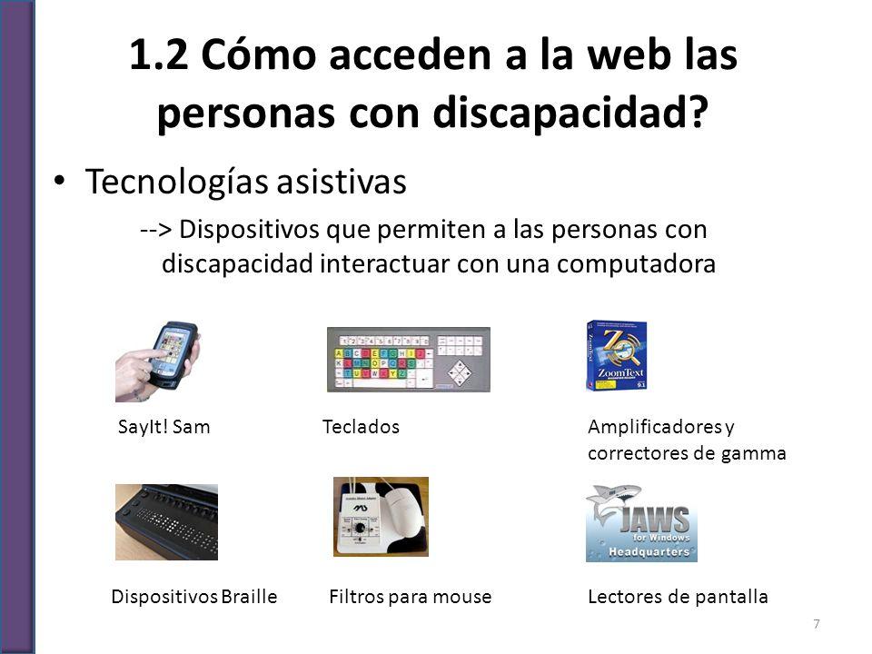 1.2 Cómo acceden a la web las personas con discapacidad