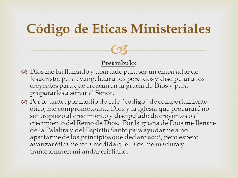 Código de Eticas Ministeriales