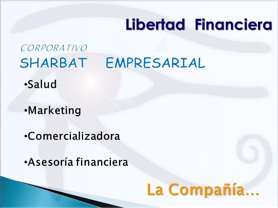 Libertad Financiera La Compañía… SHARBAT EMPRESARIAL Salud Marketing