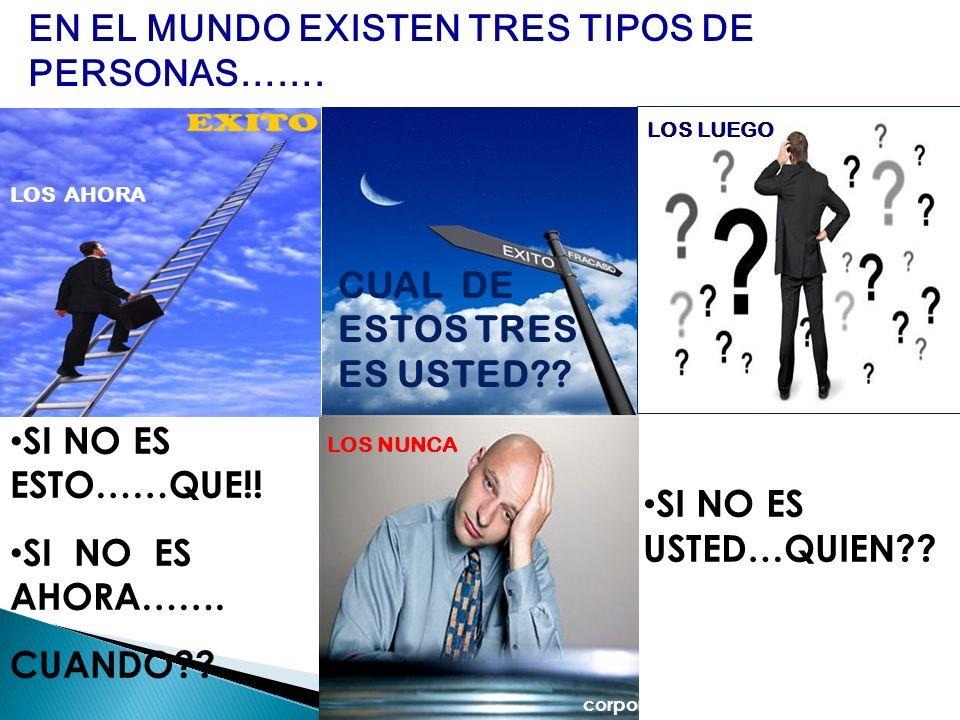 EN EL MUNDO EXISTEN TRES TIPOS DE PERSONAS…….
