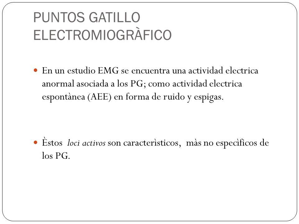 PUNTOS GATILLO ELECTROMIOGRÀFICO