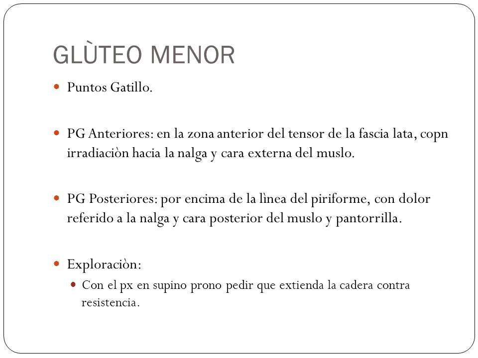 GLÙTEO MENOR Puntos Gatillo.