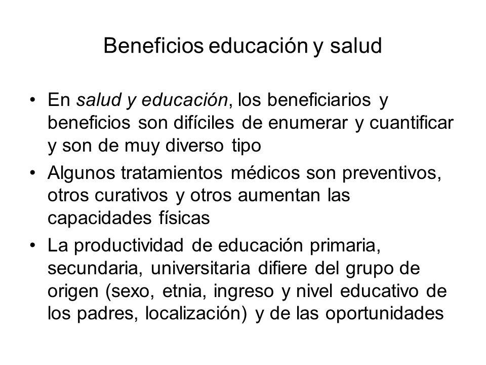 Beneficios educación y salud