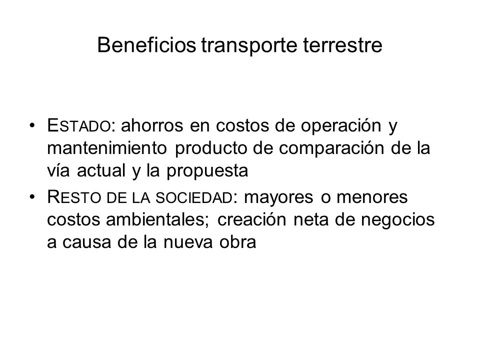 Beneficios transporte terrestre