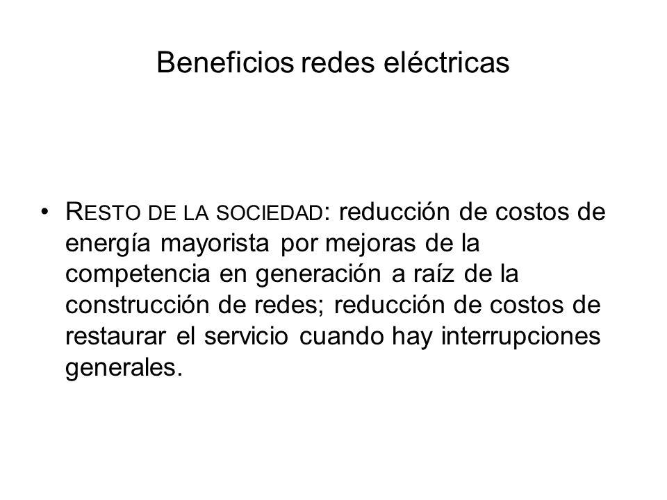 Beneficios redes eléctricas