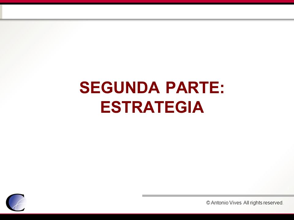 Segunda parte: estrategia