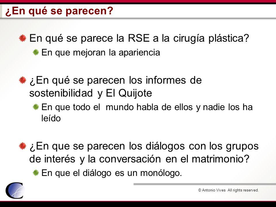 En qué se parece la RSE a la cirugía plástica