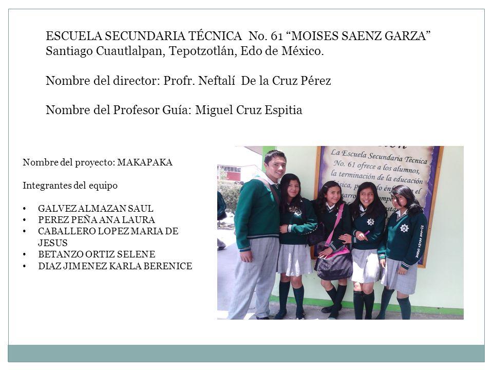 ESCUELA SECUNDARIA TÉCNICA No. 61 MOISES SAENZ GARZA