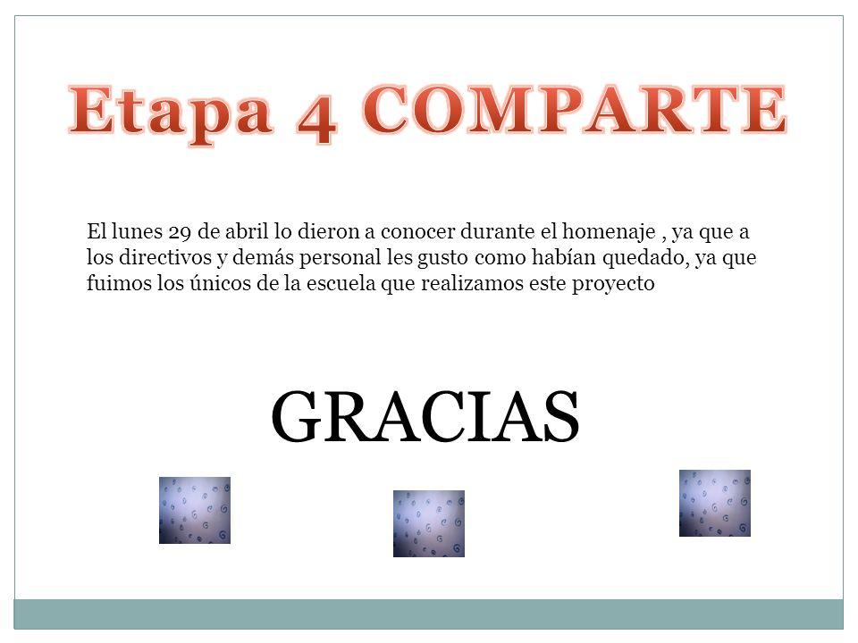 GRACIAS Etapa 4 COMPARTE