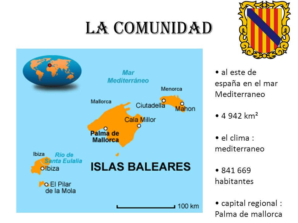 La comunidad • al este de españa en el mar Mediterraneo • 4 942 km²