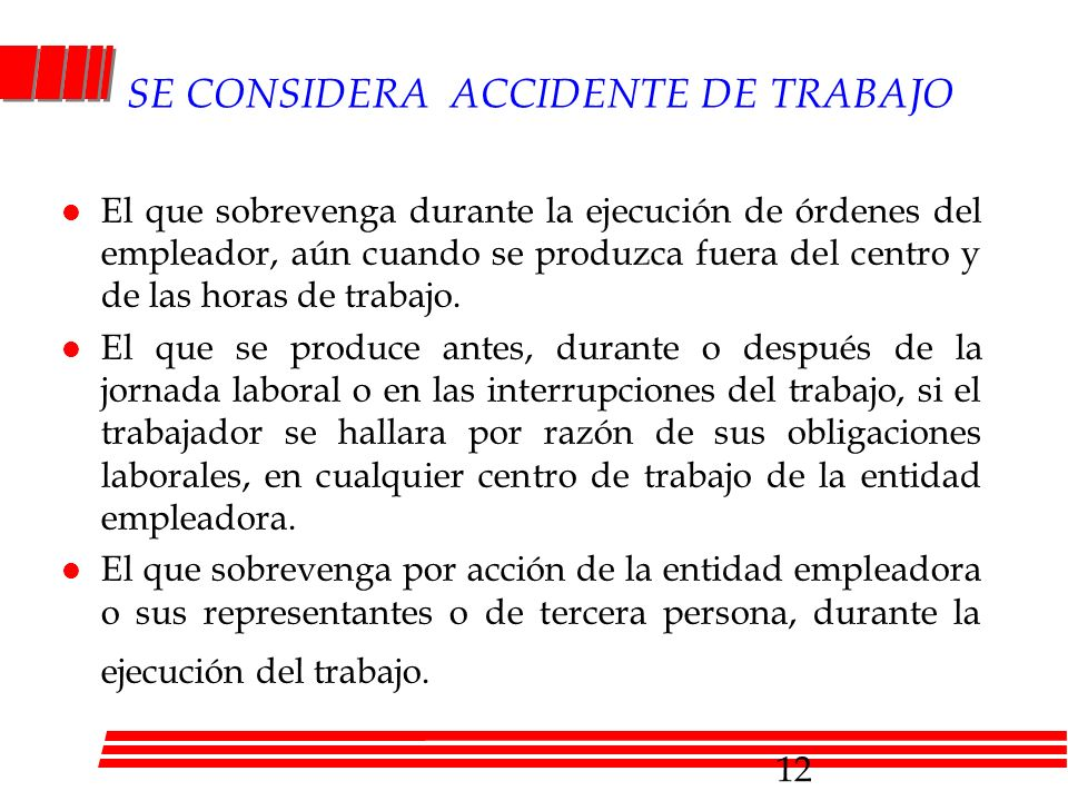SE CONSIDERA ACCIDENTE DE TRABAJO