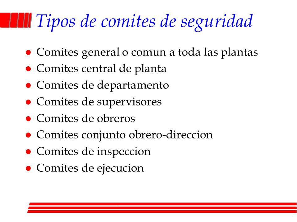 Tipos de comites de seguridad