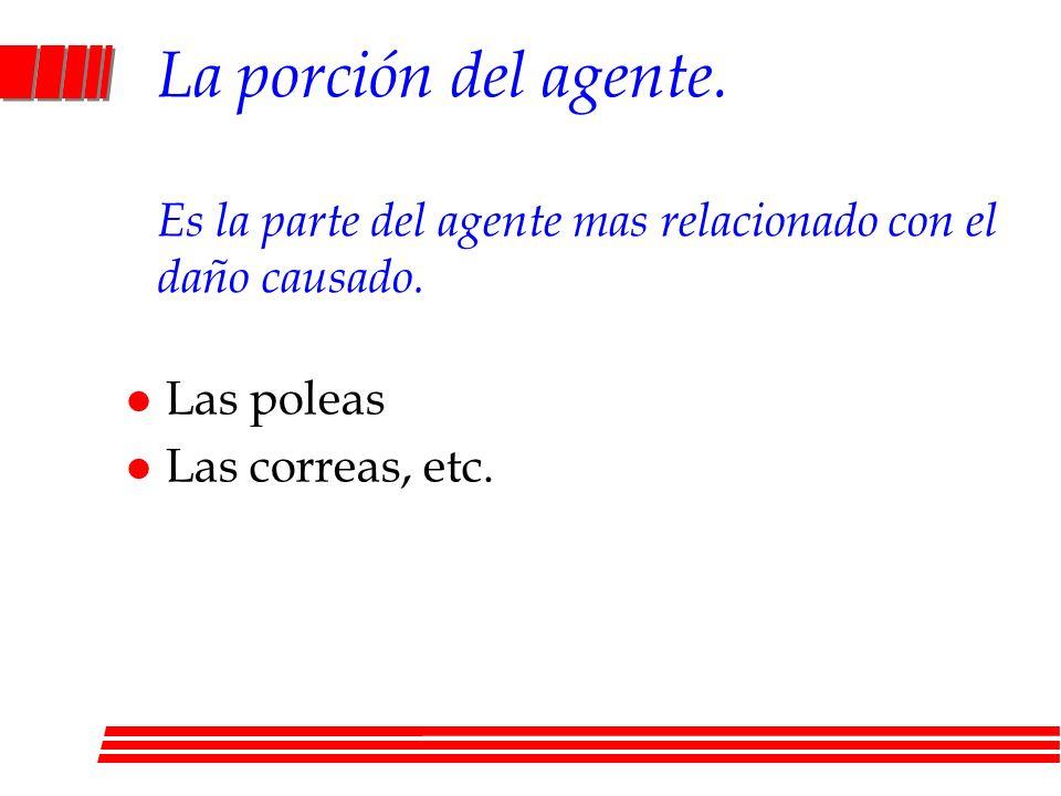 La porción del agente. Es la parte del agente mas relacionado con el daño causado.