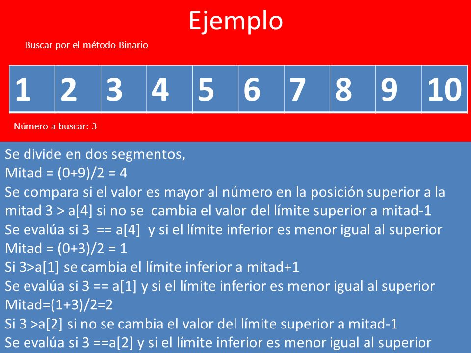 1 2 3 4 5 6 7 8 9 10 Ejemplo Se divide en dos segmentos,