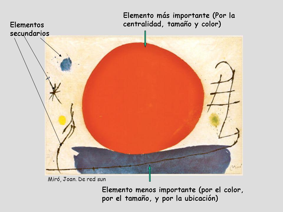 Elemento más importante (Por la centralidad, tamaño y color)