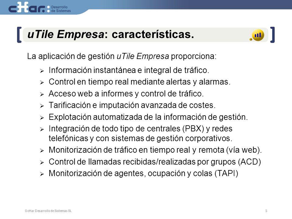 uTile Empresa: características.