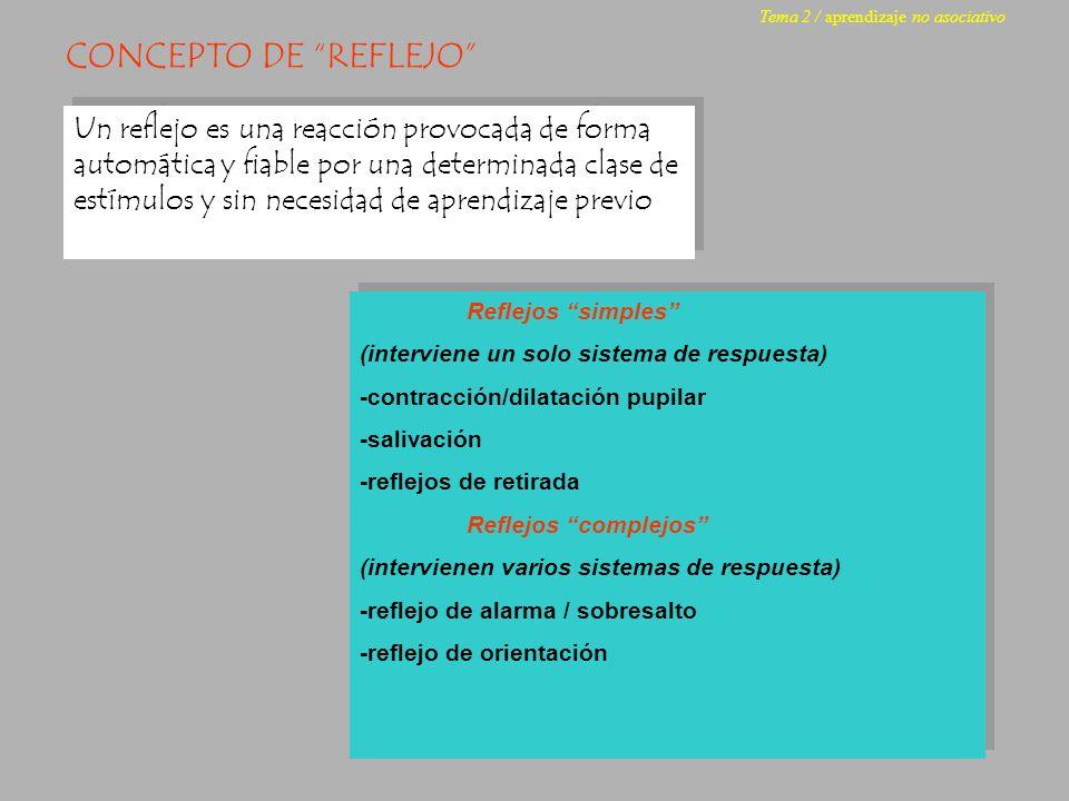Tema 2 / aprendizaje no asociativo
