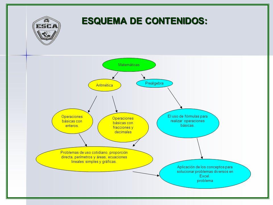 ESQUEMA DE CONTENIDOS: