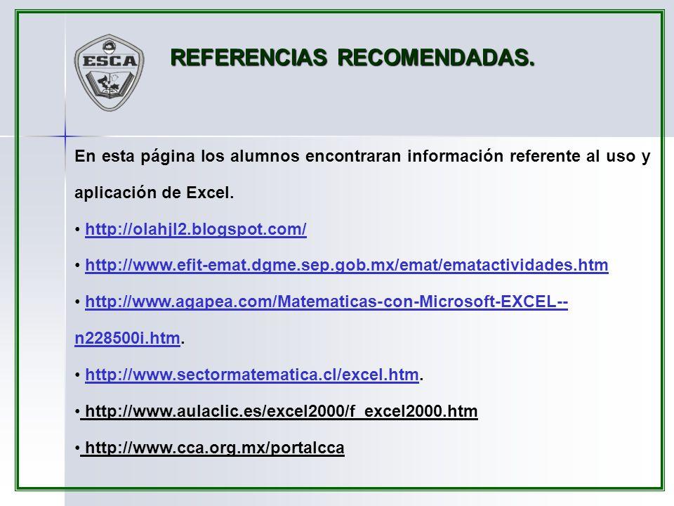 REFERENCIAS RECOMENDADAS.