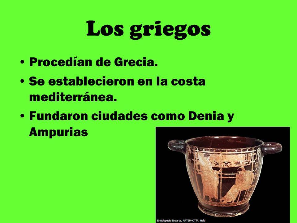 Los griegos Procedían de Grecia.