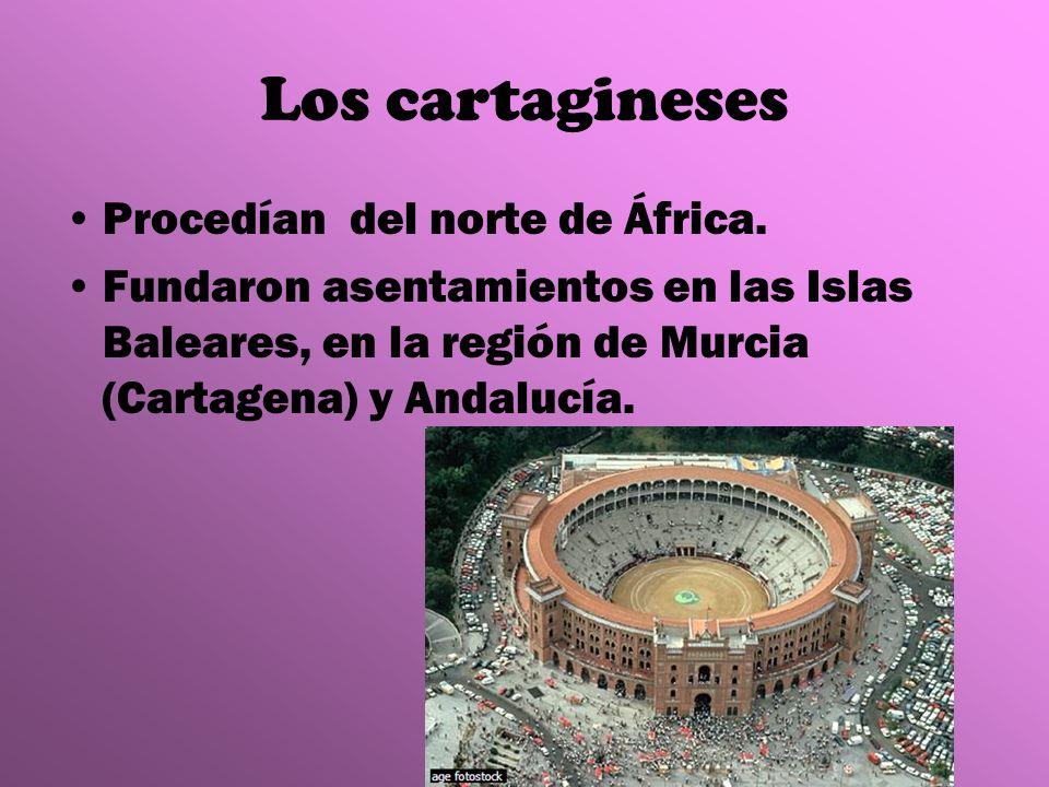 Los cartagineses Procedían del norte de África.