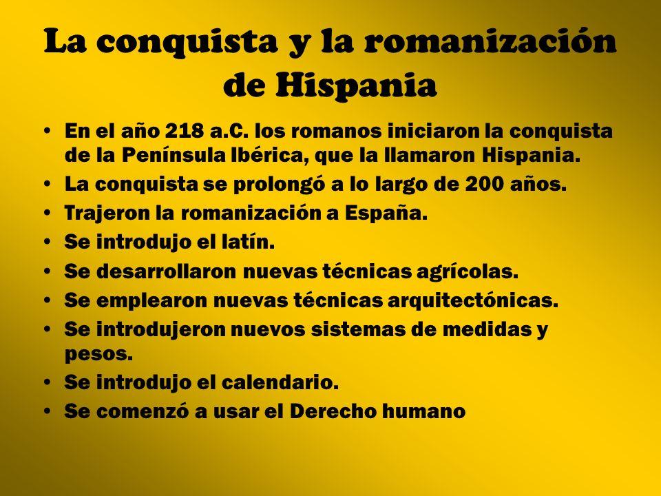 La conquista y la romanización de Hispania