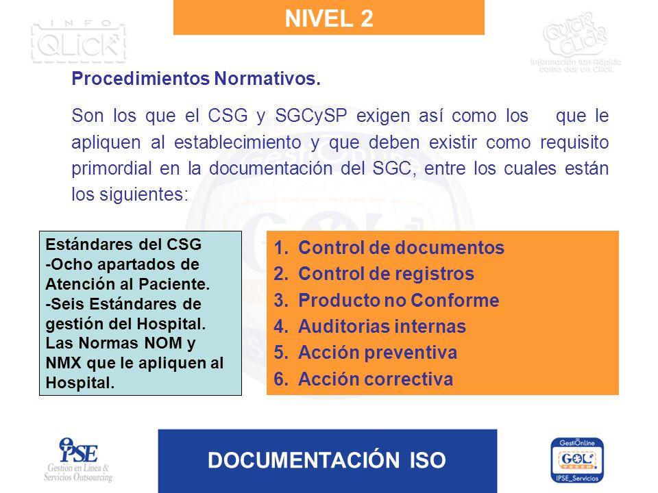 NIVEL 2 Procedimientos Normativos.