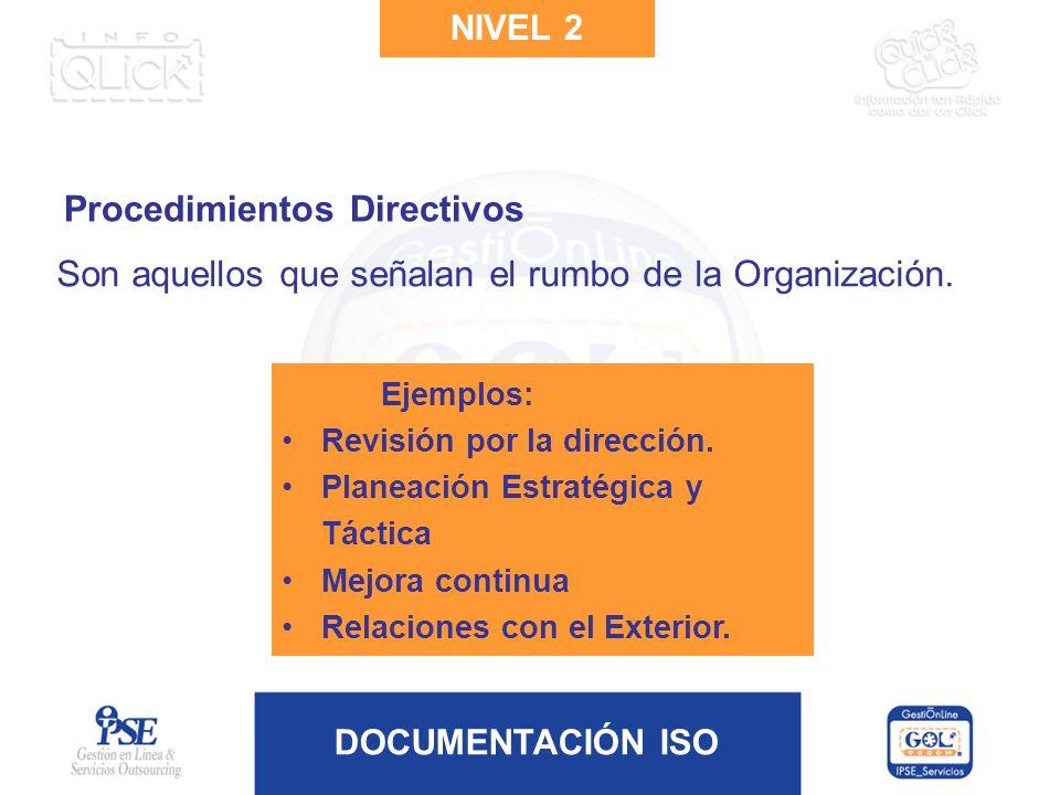 Procedimientos Directivos