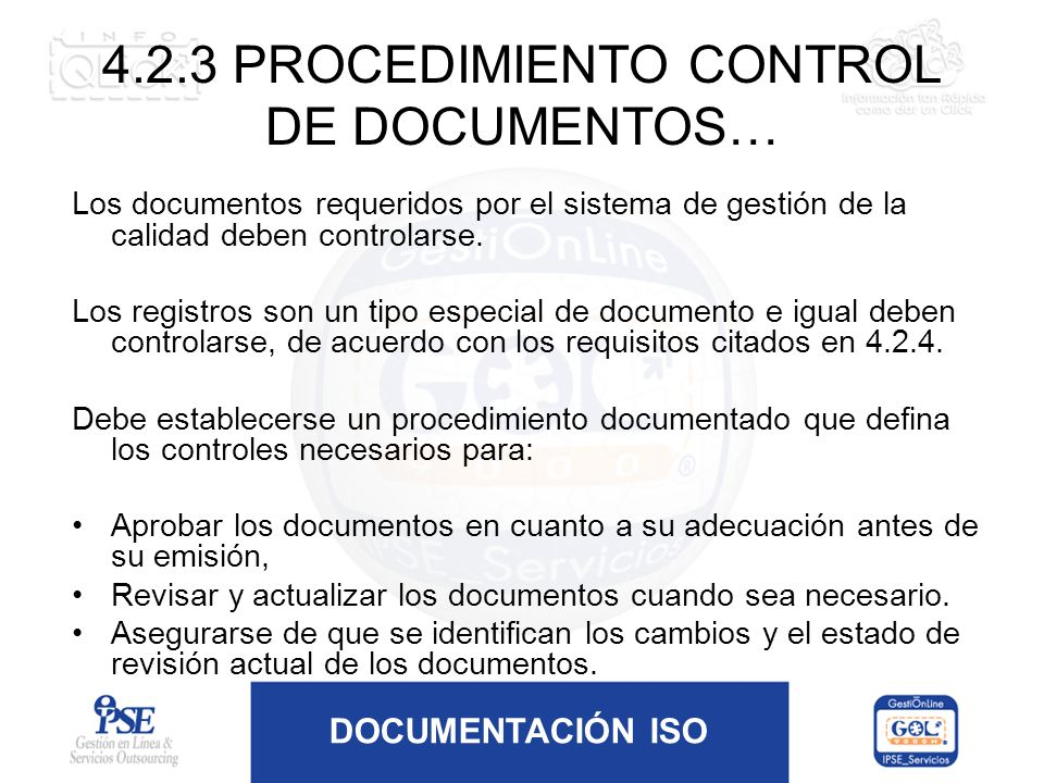 4.2.3 PROCEDIMIENTO CONTROL DE DOCUMENTOS…