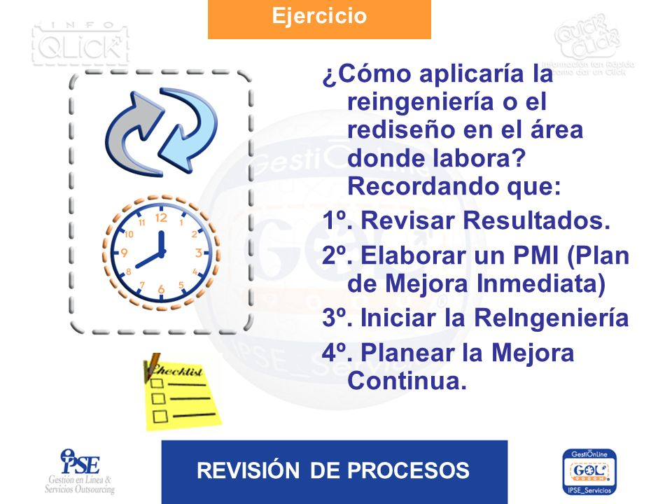 2º. Elaborar un PMI (Plan de Mejora Inmediata)