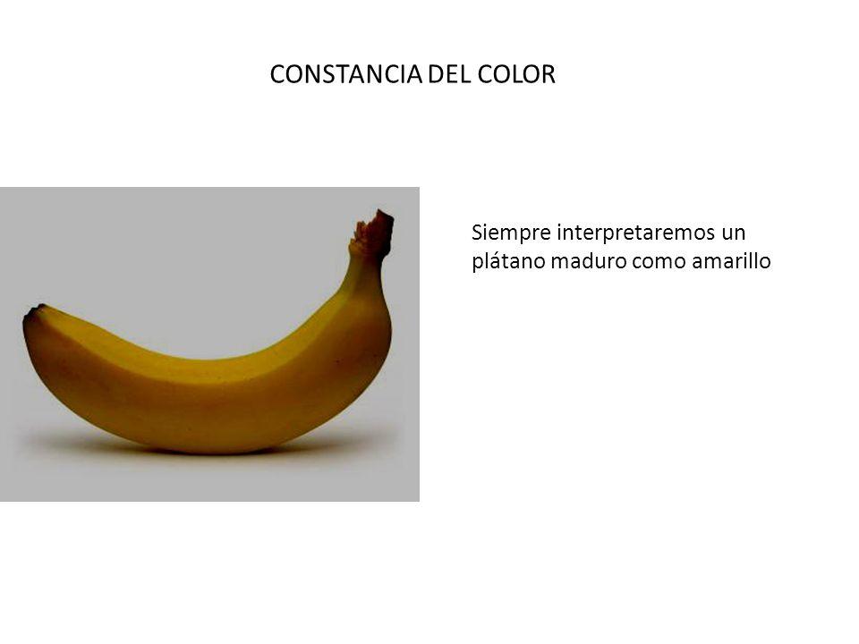 CONSTANCIA DEL COLOR Siempre interpretaremos un plátano maduro como amarillo
