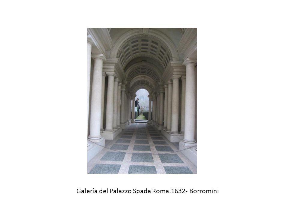 Galería del Palazzo Spada Roma.1632- Borromini