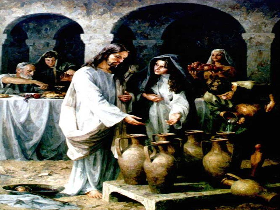 El Evangelio habla de las Bodas de Caná.