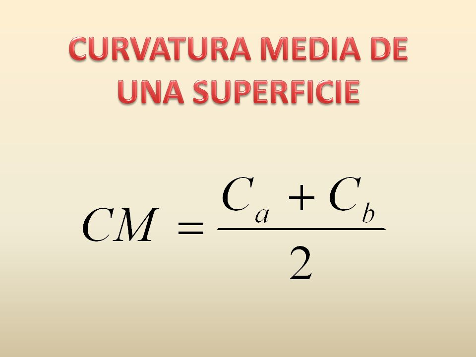 CURVATURA MEDIA DE UNA SUPERFICIE