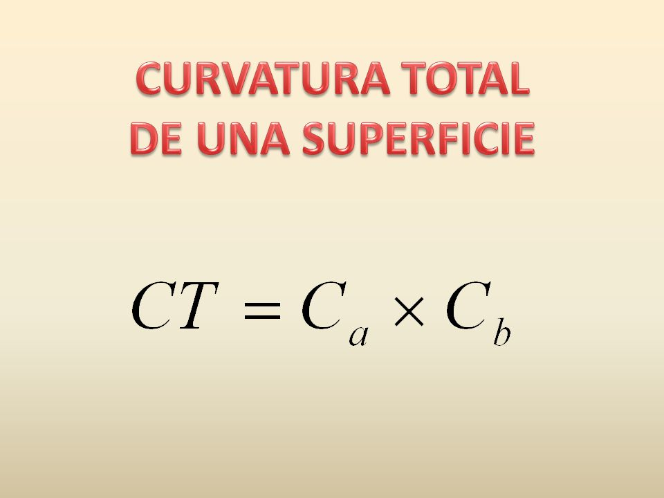 CURVATURA TOTAL DE UNA SUPERFICIE