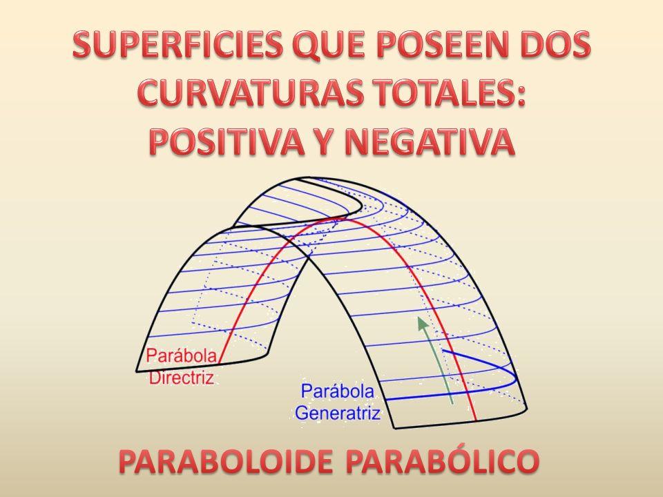 SUPERFICIES QUE POSEEN DOS CURVATURAS TOTALES: POSITIVA Y NEGATIVA