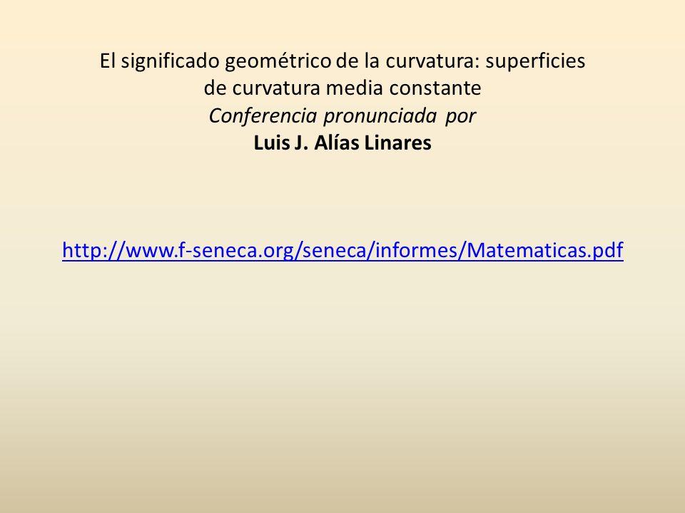 El significado geométrico de la curvatura: superficies